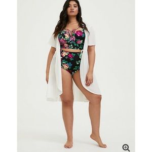 NWT TORRID Ivory Tie Front Swim Cover Up